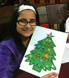 decorating a xmas tree