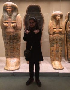 Me trying to fit in with the ancient mummies in the Metropolitan Museum.