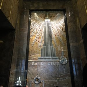 The sign inside the Empire State building.