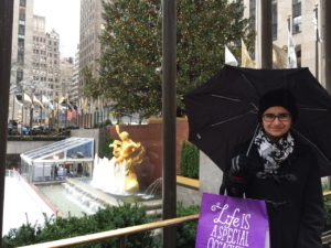 Me with the tree outside of the Rockefeller Center.