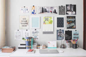 Here is an example of an organized desk space (not mine)